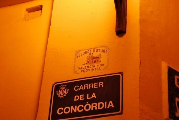insegna in Calle de la Concordia