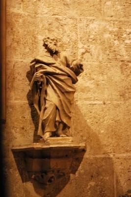 statuetta, ingresso de la Seu