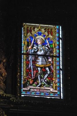 Seu, vetrata con San Miguel