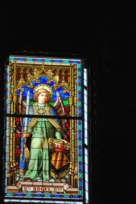 Seu, vetrata con Sancto Angel de Dio