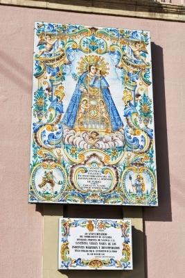 Maiolica alla Virgen de los desamparados