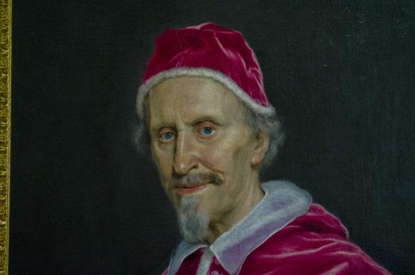 Clemente I Rospigliosi benedicente , Palazzo Barberini