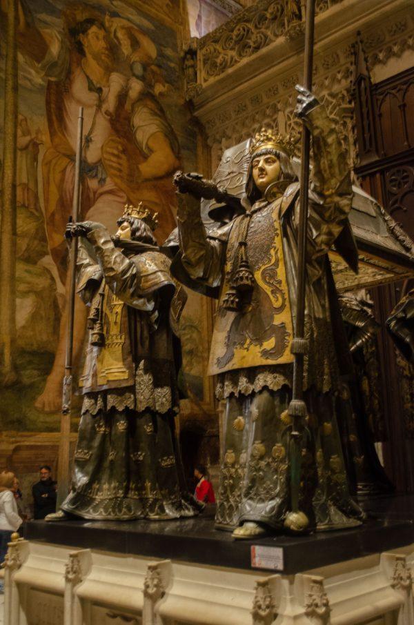 Siviglia, cattedrale, tomba di Colombo